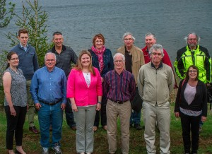back row (L to R): Will Horne, Jean-Paul Arsenault, Bernie Fitzpatrick, Dominic Johnson, Lowell Vessey, Ben Hoteling. front row (L to R): Sarah Wheatley, Bruce Smith, Meghan McCarthy, John Hughes, George Coade, Cathy Corrigan.