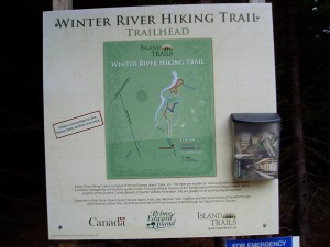 Map of Winter River trail